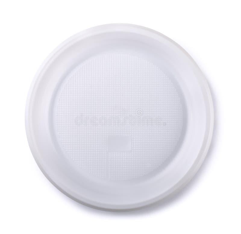 Piatto di plastica immagini stock libere da diritti