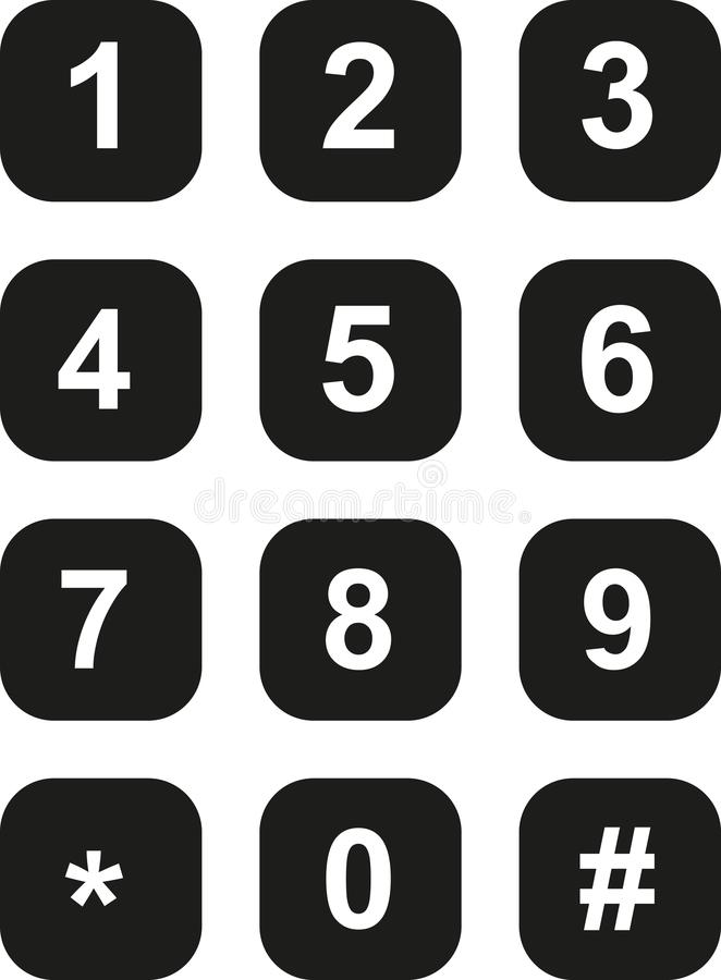 Piatto di quadrante del telefono illustrazione di stock