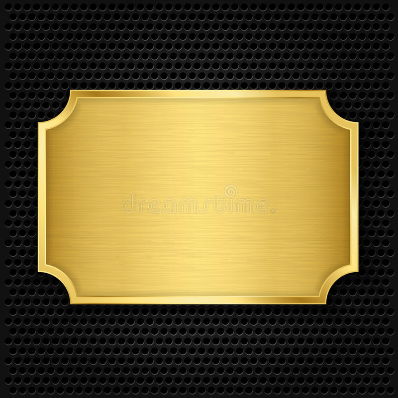 Piatto di struttura dell'oro royalty illustrazione gratis