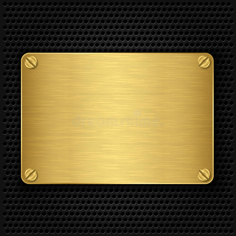 Piatto dorato di struttura con le viti royalty illustrazione gratis