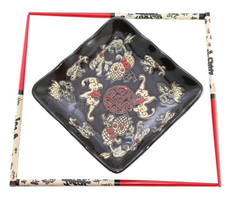 Piatto giapponese nel telaio fotografia stock