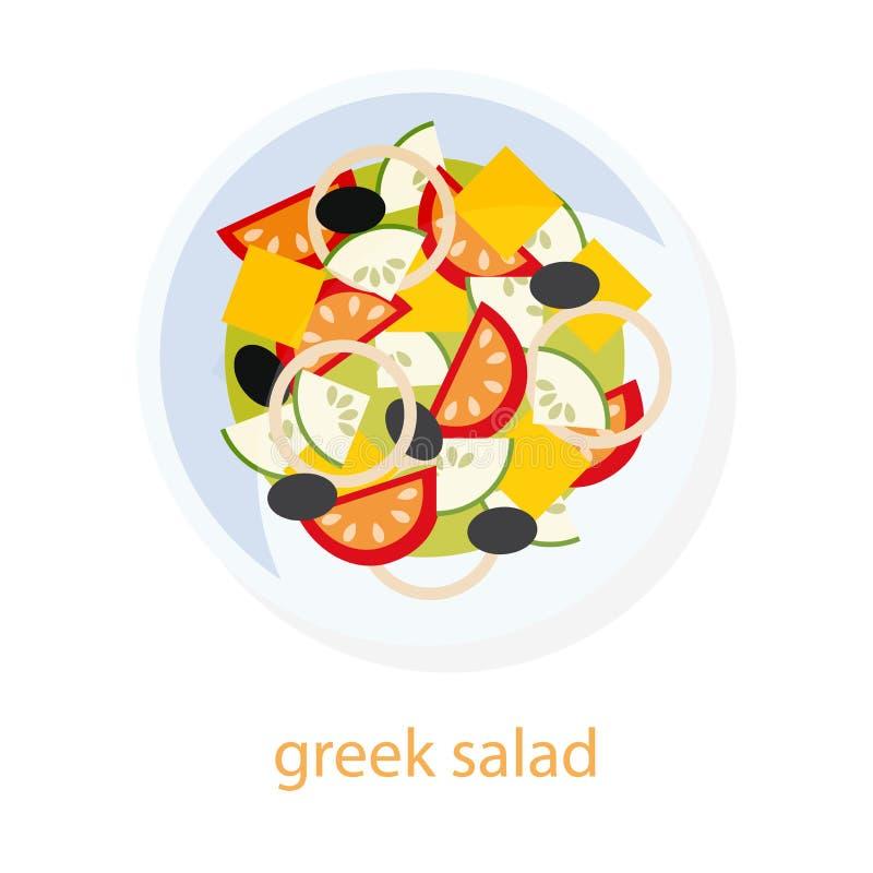 Piatto greco dell'insalata illustrazione di stock
