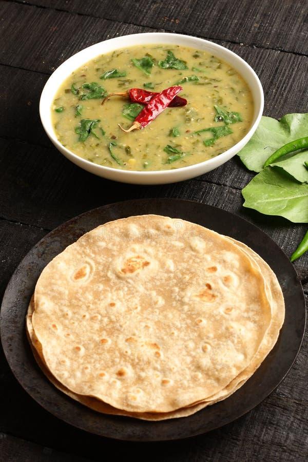 Piatto indiano del palak di cucina dal immagine stock libera da diritti