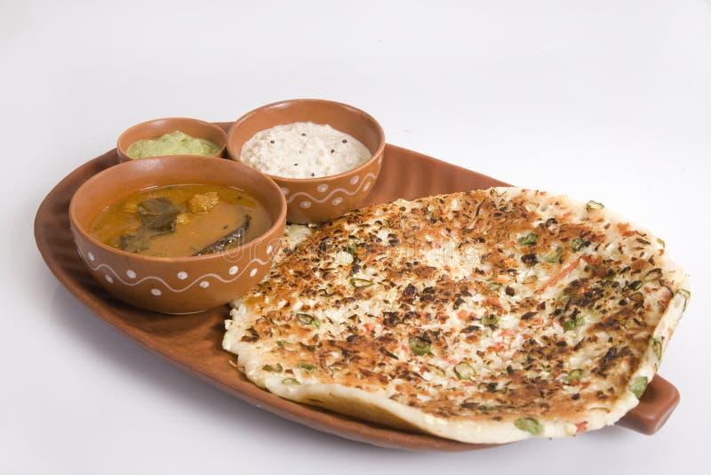 Piatto indiano del sud Uthappams fotografia stock