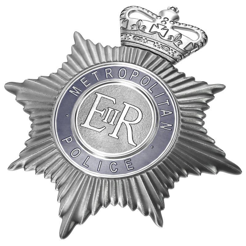Piatto metropolitano del casco della polizia di Londra su bianco illustrazione 3D royalty illustrazione gratis