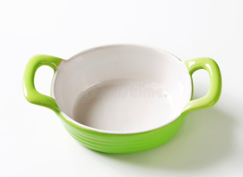 Piatto ovale ceramico di cottura immagini stock libere da diritti