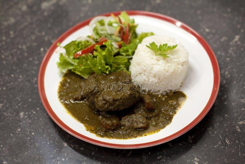 Piatto peruviano tipico immagini stock libere da diritti