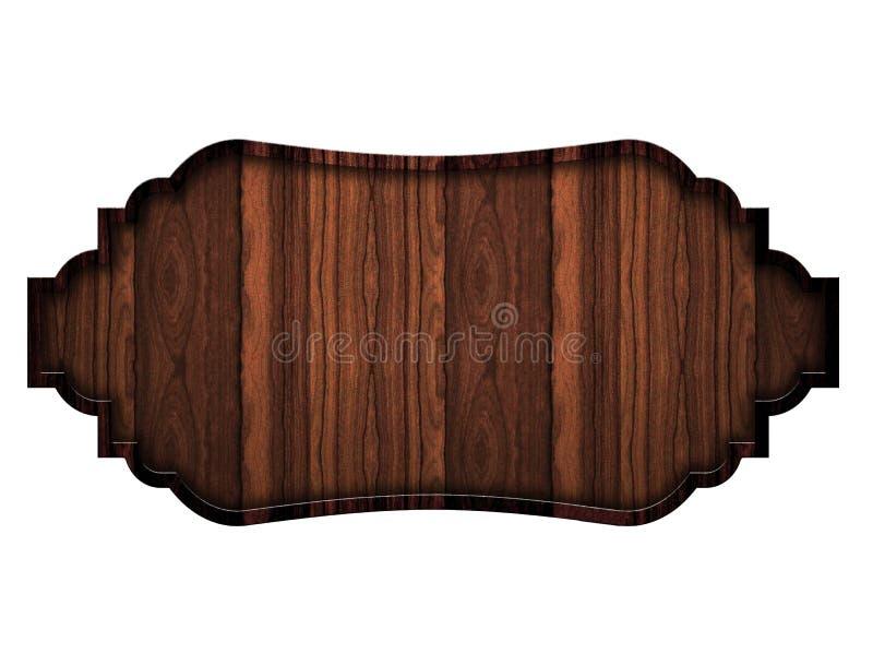 Piatto scuro di legno, isolato su fondo bianco immagini stock