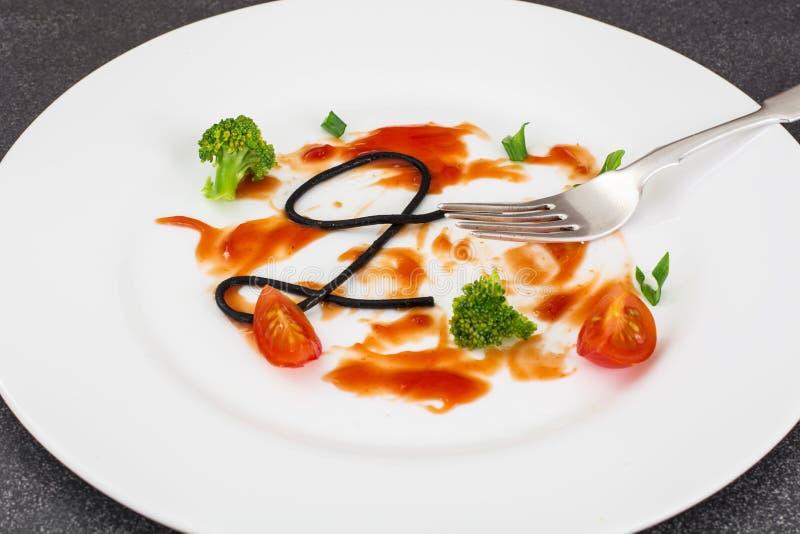 Piatto sporco dopo il cibo immagini stock libere da diritti