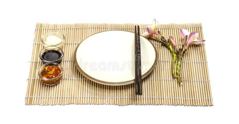 Piatto vuoto dell'alimento giapponese fotografia stock