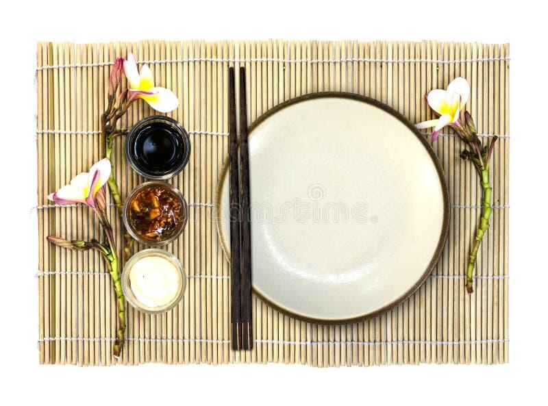 Piatto vuoto dell'alimento giapponese fotografia stock libera da diritti