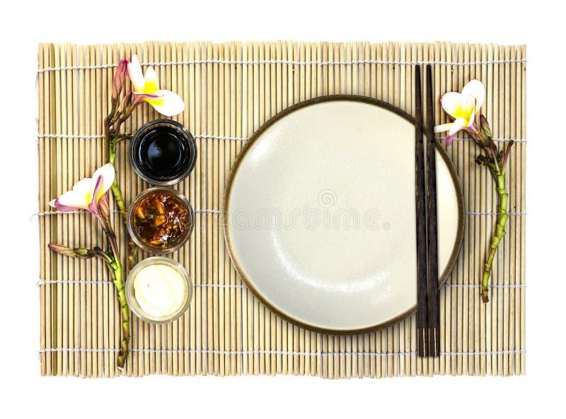 Piatto vuoto dell'alimento giapponese immagine stock libera da diritti