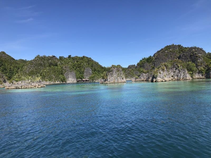 Piaynemo Geopark Raja Ampat Παπούα Ινδονησία στοκ φωτογραφία με δικαίωμα ελεύθερης χρήσης