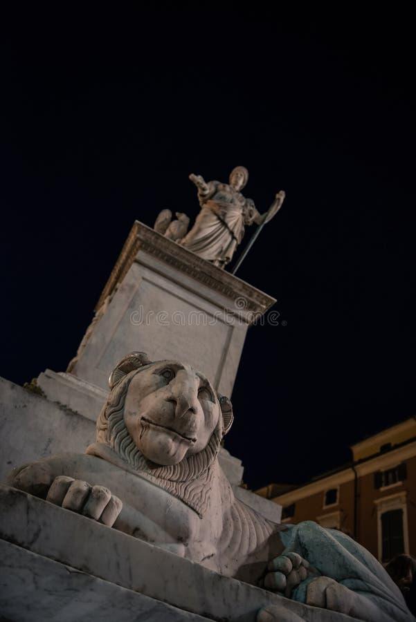 Piazza Alberica w Kararyjskim zdjęcia royalty free