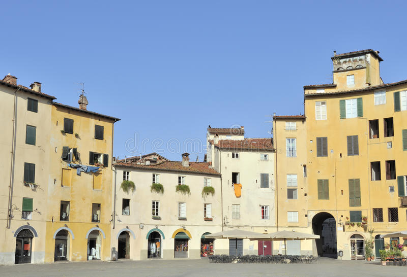 Piazza Anfiteatro, Lucca, Italy royalty free stock photo
