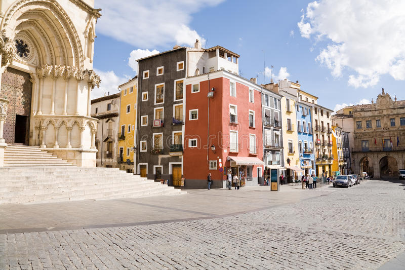 Piazza-Bürgermeister, Cuenca stockfotos