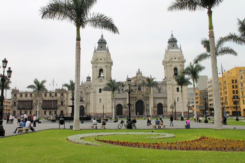 Piazza-Bürgermeister, Lima, Peru lizenzfreie stockfotografie
