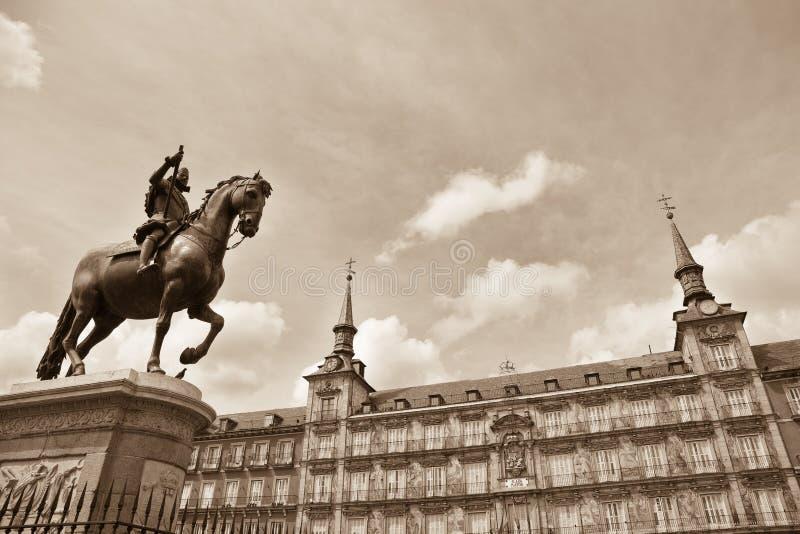 Piazza-Bürgermeister, Madrid lizenzfreie stockbilder