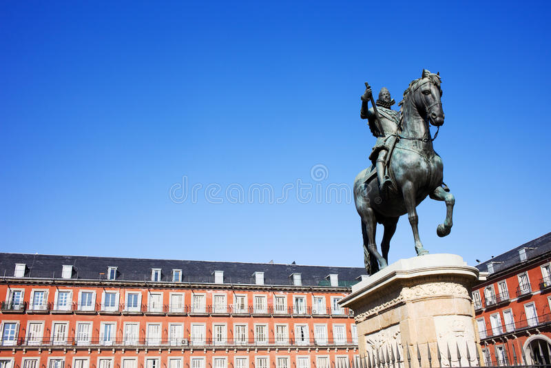 Piazza-Bürgermeister in Madrid stockfotos