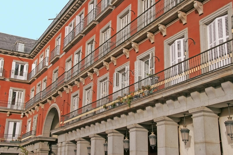 Piazza-Bürgermeister Madrid stockbilder