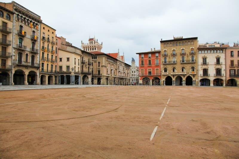 Piazza-Bürgermeister in Vic, Katalonien lizenzfreie stockbilder
