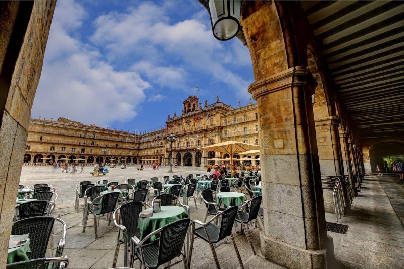 Piazza-Bürgermeister von Salamanca lizenzfreie stockfotos