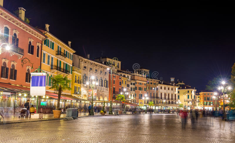 The Piazza Bra, the central square of Verona. Italy royalty free stock photos