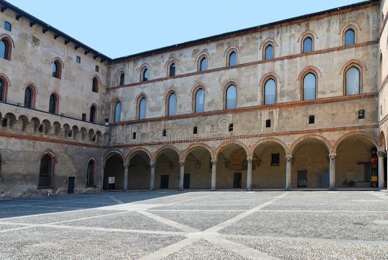 Piazza Castello Sforzesco royalty free stock photography