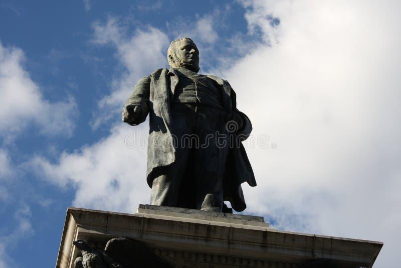 Piazza Cavour con il monumento di Cavour a Roma, Italia fotografia stock