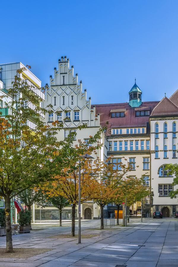 Piazza a Chemnitz, Germania immagine stock