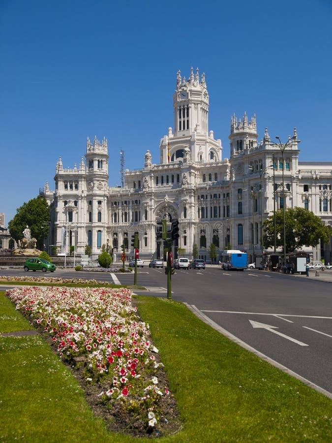 Piazza Cibeles, Madrid stockfotos