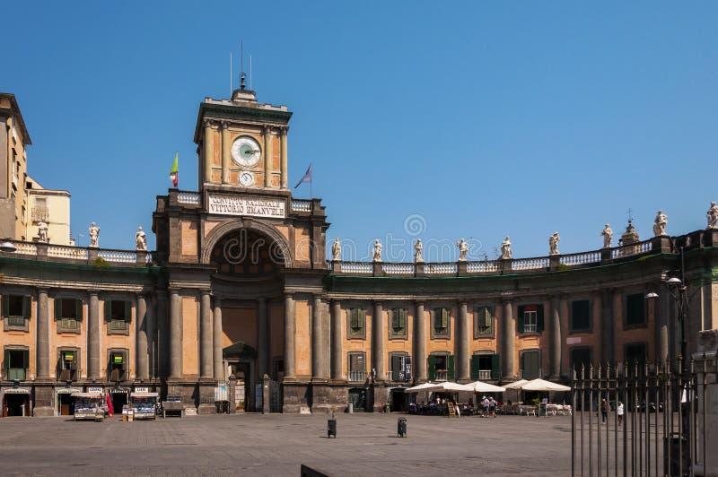Piazza Dante in Napels stock afbeelding