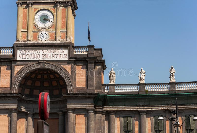 Piazza Dante in Napels royalty-vrije stock fotografie