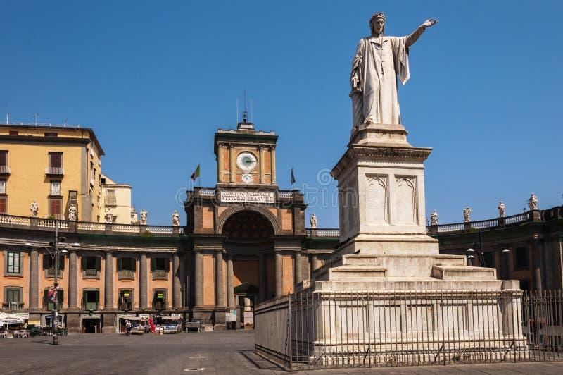Piazza Dante in Napels royalty-vrije stock foto