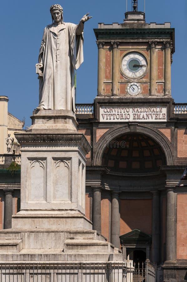 Piazza Dante in Napels stock foto