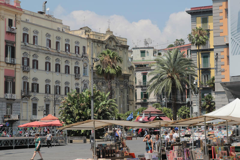Piazza Dante, Naples Italy. Piazza Dante is a large public square in Naples, Italy, named after the poet Dante Alighieri stock image