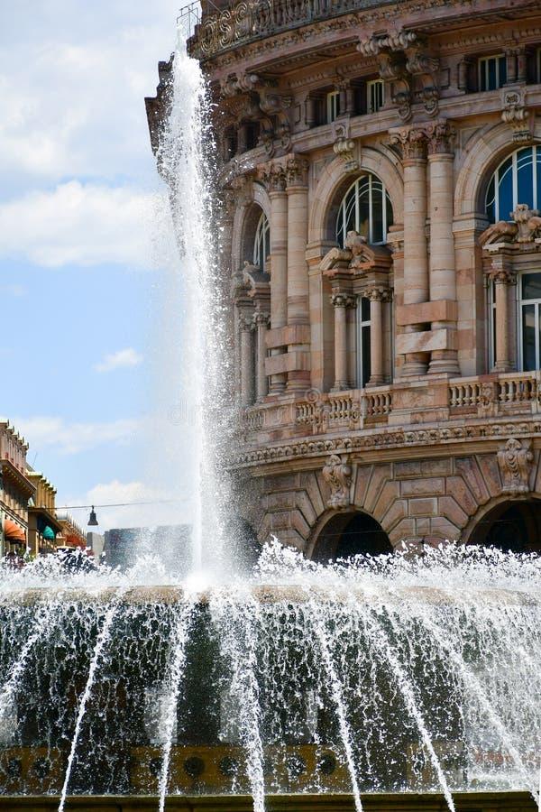 Piazza De Ferrari, Gênes, Italie image libre de droits