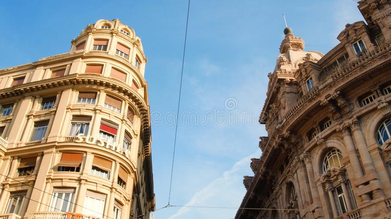 Piazza De Ferrari, the main square of Genoa, located in the heart of the city. Italy stock images