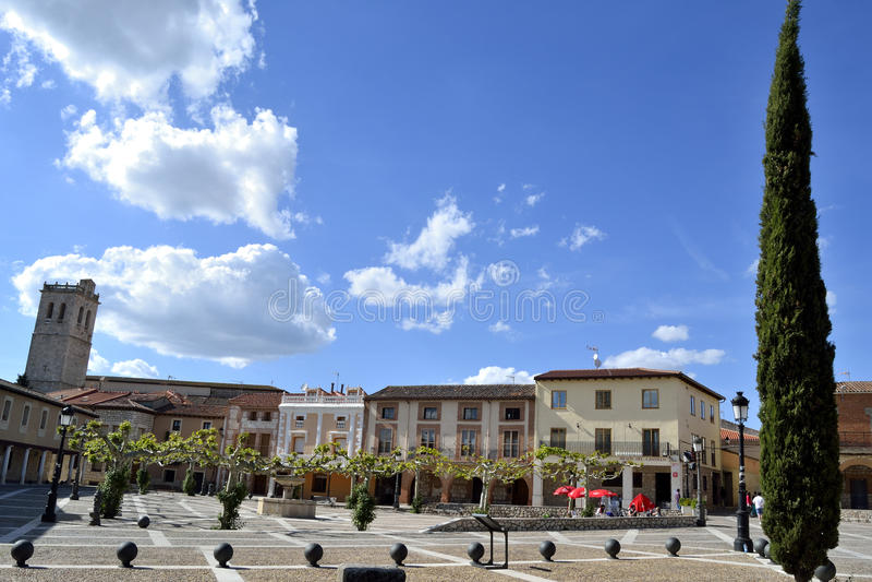 Piazza de la villa, Torija, Spanien lizenzfreies stockfoto