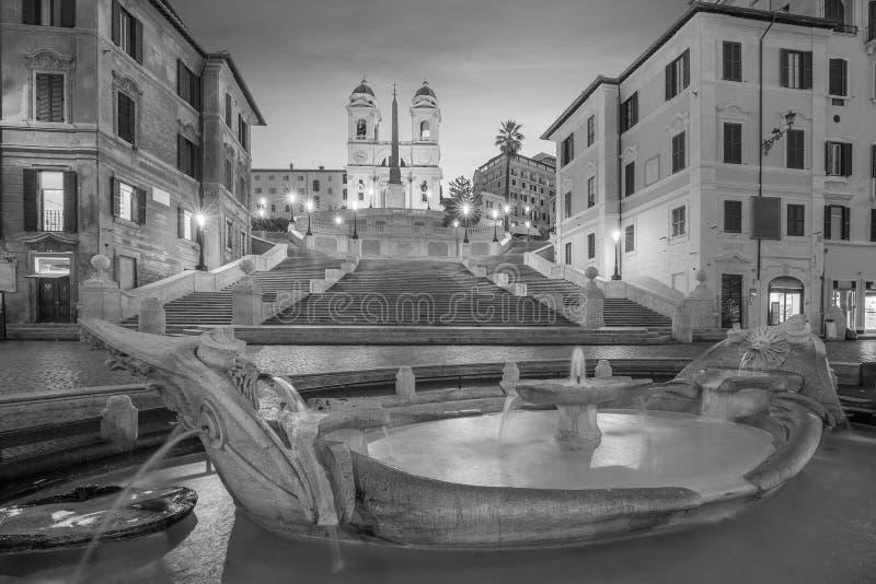 Piazza de spagnaSpanish kroki w Rome, Italy fotografia stock