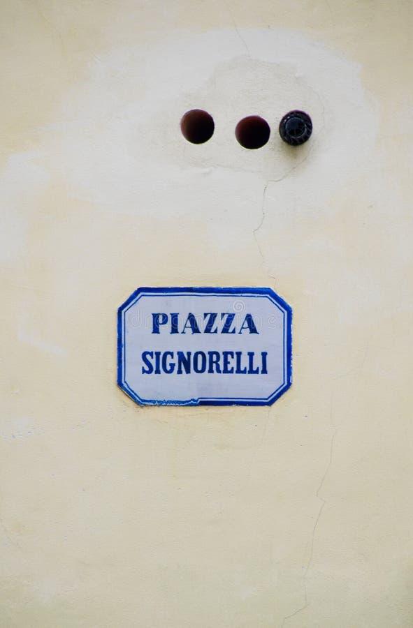 Piazza de Straatteken van Signorelli royalty-vrije stock foto's