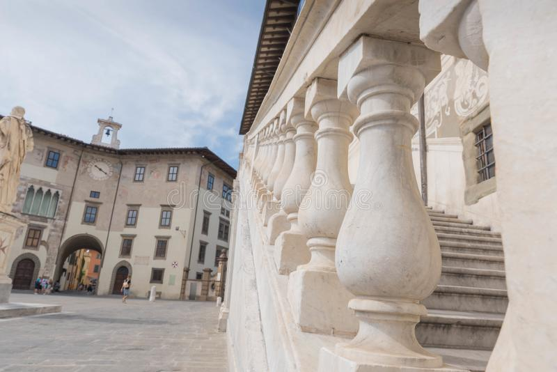 Piazza dei Cavalieri w Pisa zdjęcie stock