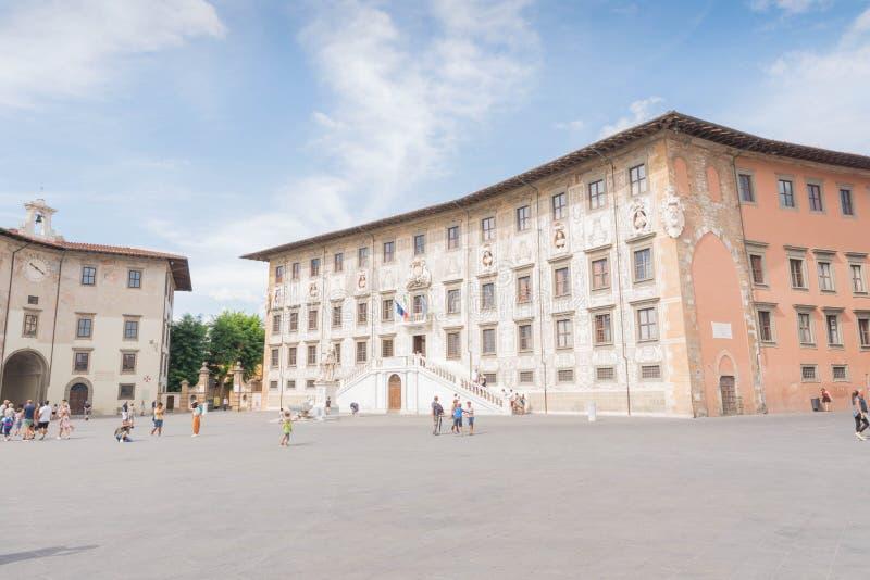 Piazza dei Cavalieri w Pisa obrazy royalty free