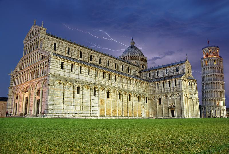 Piazza del Duomo, the Leaning Tower of Pisa, Tuscany, Italy. The Piazza dei Miracoli English: Square of Miracles, formally known as Piazza del Duomo English royalty free stock image