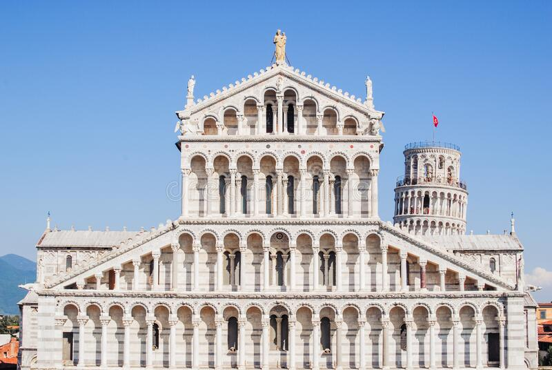 Piazza dei Miracoli or Piazza del Duomo. Leaning Tower and Cathedral. Italy. Piazza dei Miracoli or Piazza del Duomo. Leaning Tower and Cathedral. Tuscany, Italy stock photo