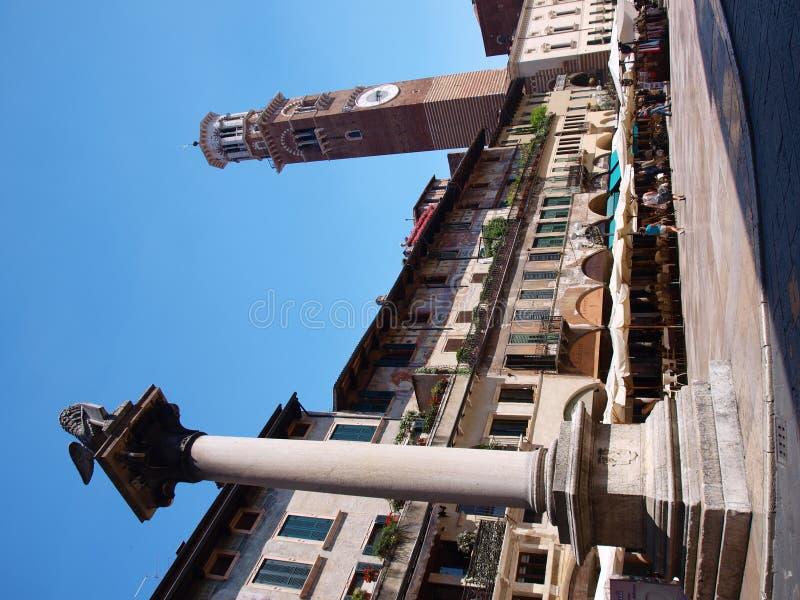 Piazza dei Signiori, Verona, Italië stock fotografie