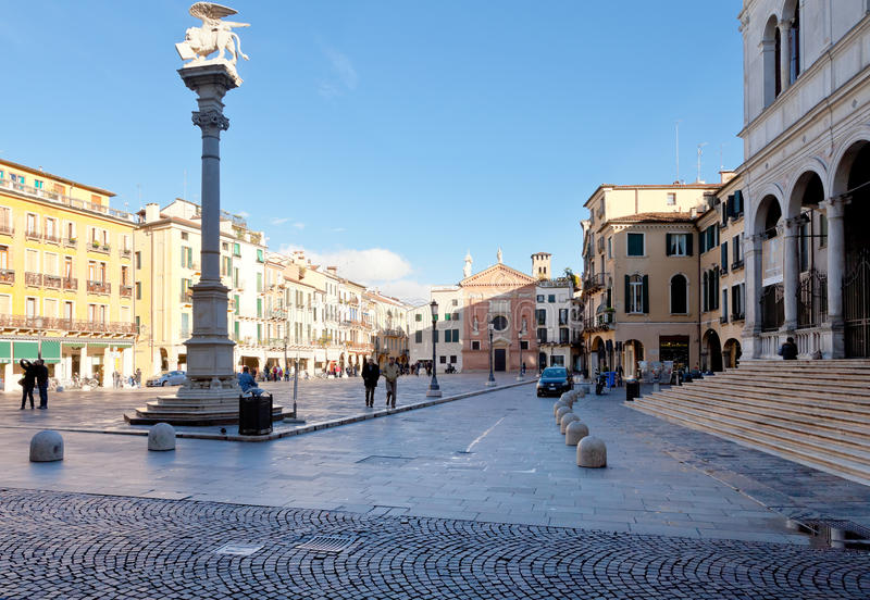 Piazza dei Signori and Church of San Clemente royalty free stock images