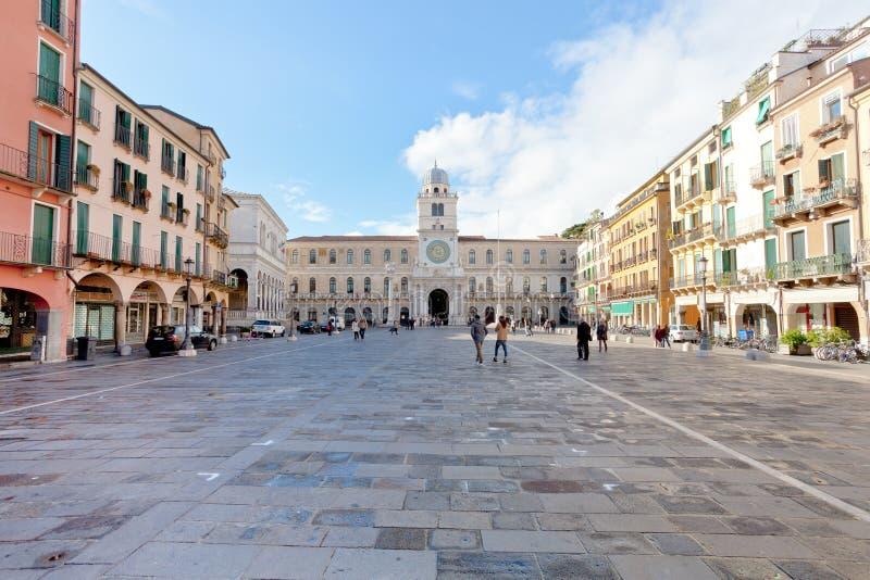 Piazza dei Signori, Padova, Włochy zdjęcia royalty free