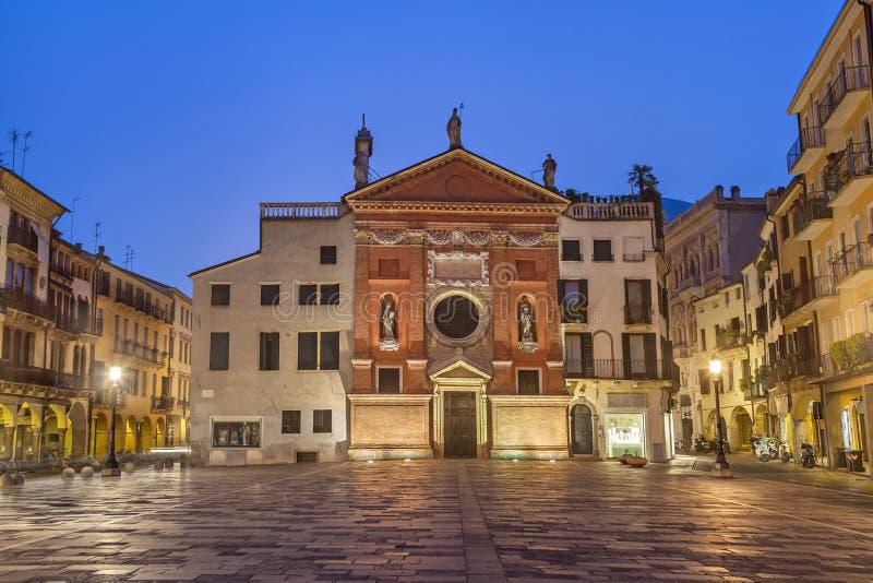Piazza dei Signori in Padua stock photos