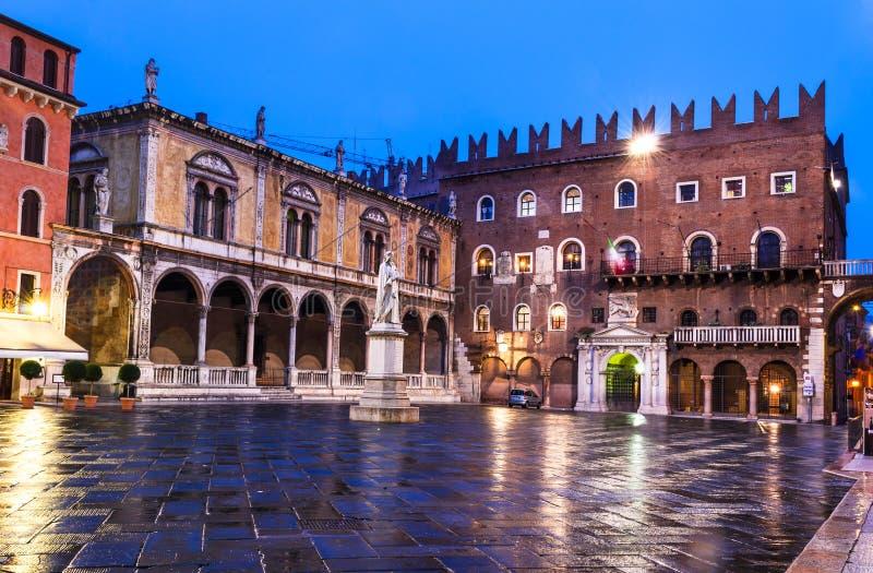 Piazza dei Signori, Verona royalty-vrije stock foto